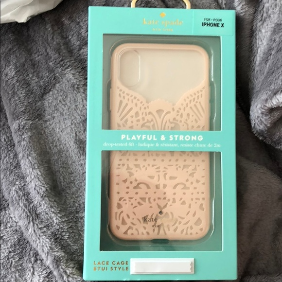 online store b5187 331fd Brand new Kate Spade Lace IPhone X Case NWT